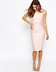 Asos Bandage High Neck Midi Bodycon Dress Mint Green