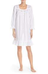 Women's Eileen West Front Button Cotton Nightgown