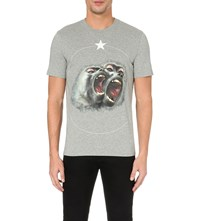 Givenchy Monkey Print Cotton Jersey T Shirt Pearl Grey