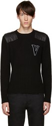 Versus Black Wool 'V' Sweater