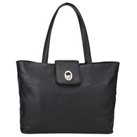 John Lewis Patricia Leather Tote Bag Black