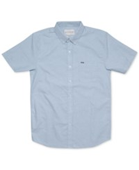 Rip Curl Men's Ourtime Solid Short Sleeve Shirt Blu