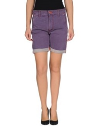 Cycle Denim Bermudas Purple