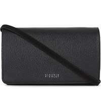 Claudie Pierlot Aneta Leather Cross Body Bag Noir