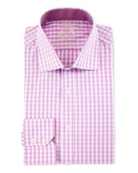 English Laundry Gingham Long Sleeve Dress Shirt Mauve Pink