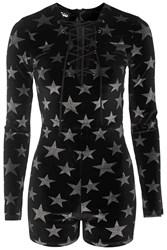 Glitter Star Playsuit By Jaded London Black