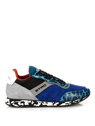 Etro Leopard Print Suede Trainers