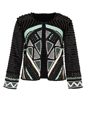 Hallhuber Ethnic Jacket With Appliqua Details Multi Coloured