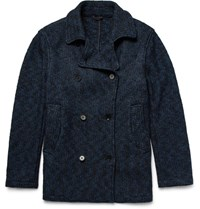 Eidos Melange Wool Blend Boucle Peacoat Cobalt Blue