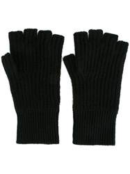 Rag And Bone Fingerless Knit Gloves Black
