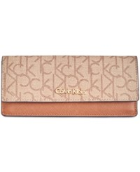 Calvin Klein Wallet Textured Khaki Brown