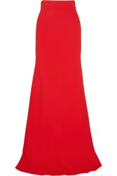 Antonio Berardi Stretch Crepe Maxi Skirt Red