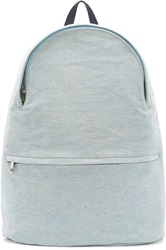 A.P.C. Blue Washed Denim Billy Backpack
