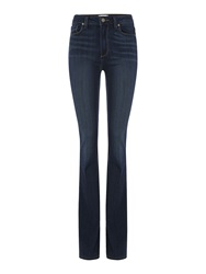 Paige High Rise Bell Canyon Flare Jean In Nottingham Denim Dark Wash