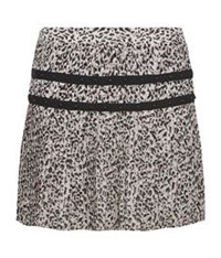 Juicy Couture Empress Leopard Print Pleated Skirt Multi