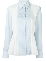 3.1 Phillip Lim Panelled Shirt White