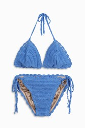 Anna Kosturova Women S Crochet Triangle Bikini Boutique1 Blue