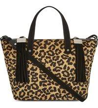 Claudie Pierlot Anais Bis Haircalf Satchel Leopard