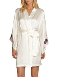 Josie Natori Lolita Silk Robe Natural