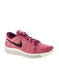 Nike Lunarepic Low Flyknit Running Trainers Male Fuchsia