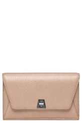 Akris 'Anouk' Metallic Leather Shoulder Bag