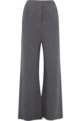 Stella Mccartney Wool Wide Leg Pants Gray