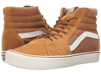 Vans Sk8 Hi Lite Vintage Cathay Spice Classic White Men's Skate Shoes Brown