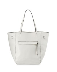Neiman Marcus Snake Embossed Shopper Tote Bag Milk