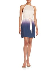 Catherine Malandrino Abbey Pleated Ombre Halter Dress