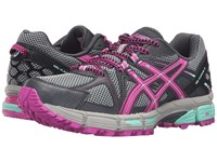 Asics Gel Kahana 8 Dark Steel Pink Glow Mint Women's Running Shoes Gray