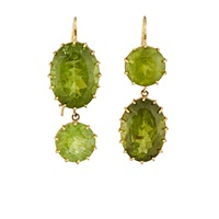Renee Lewis Peridot Double Drop Earrings