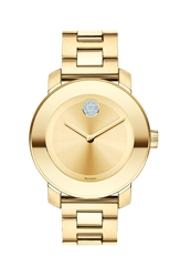 Movado 'Bold' Crystal Marker Bracelet Watch 36Mm Gold