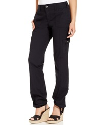 Style And Co. Plus Size Convertible Cargo Pants Deep Black