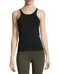 Solow Mesh Trim Performance Tank Black