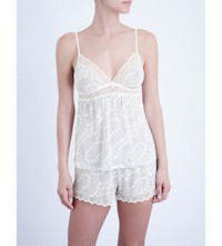 Eberjey Stargazing Jersey And Lace Camisole Lunar Grey