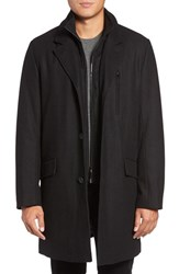 Marc New York Men's By Andrew Truro Inset Bib Pressed Wool Blend Topcoat
