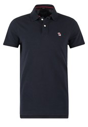 Abercrombie And Fitch Core Muscle Fit Polo Shirt Navy Dark Blue