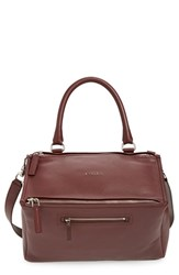 Givenchy 'Medium Pandora' Sugar Leather Satchel Red Oxblood Red