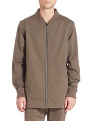 Project A By Zanerobe Elongated Bomber Jacket Fatigue Olive
