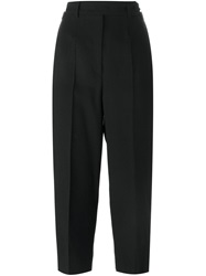 Red Valentino Straight Fit Cropped Trousers Black