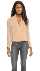 Blaque Label Wrap Blouse Toffee