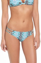 Volcom Women's 'Heat Waves' Strappy Cheeky Bikini Bottoms