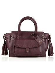 Jacques Vert Stitch Pocket Tote Bag Red