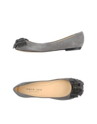 Twin Set Simona Barbieri Ballet Flats Grey