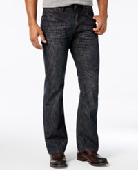 Inc International Concepts Men's Owen Bootcut Jeans Only At Macy's Dark Wash