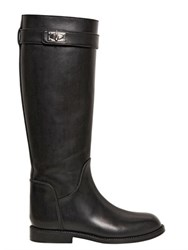 Givenchy 20Mm Rita Shark Lock Leather Boots