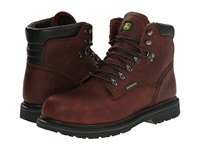 John Deere 6 Waterproof Steel Toe Boot Dark Brown Men's Work Boots