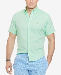 Polo Ralph Lauren Big And Tall Men's Chambray Oxford Shirt Lime Green