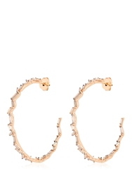 Suzanne Kalan Vitrine Hoop Earrings Rose Gold