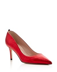 Sjp By Sarah Jessica Parker Fawn Pointed Toe Pumps Red